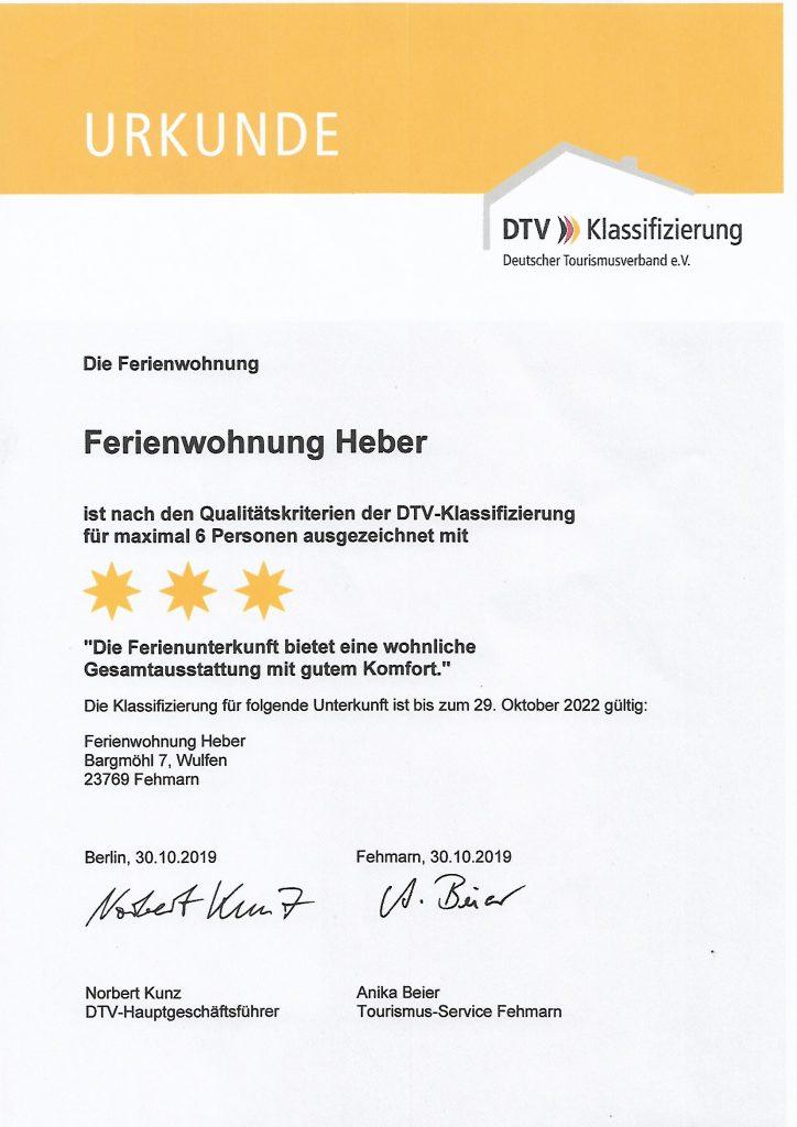 DTV-Urkunde